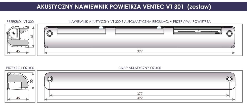 Ventec VT 301 wymiary