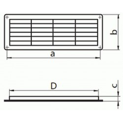 Kratka wentylacyjna drzwiowa seria WP MV 450