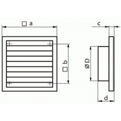 Kratka wentylacyjna nawiewno-wywiewna seria WP FMV 100
