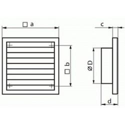 Kratka wentylacyjna nawiewno-wywiewna seria WP FMV 120