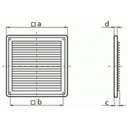 Kratka wentylacyjna nawiewno-wywiewna seria WP FMV 150