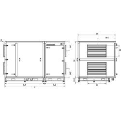 Rekuperator z nagrzewnicą wodną RIS 5500 HW EKO 3.0 (poziomy) • SALDA • TANIA PROFESJONALNA WYSYŁKA