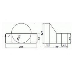 Łącznik przekrojów zmiennych w jednej płaszczyźnie bocznej Supertuba • 570 • Supertuba 204x60 • VENTS • PROFESJONALNA WYSYŁKA