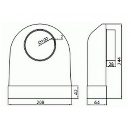 Kolano łączące przekrój 204x60 ze średnicą zewnętrzną fi 100 mm • Supertuba 204x60 • VENTS • Profesjonalna Wysyłka