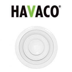 Anemostat nawiewny okrągły - HAVACO - Seria CA