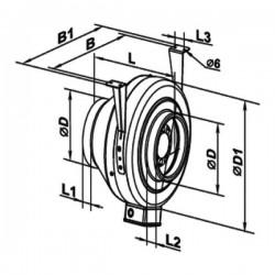 Vents VKMz 100 Q • kanałowy wentylator odśrodkowy • 250m3/h  •PROFESJONALNA WYSYŁKA• BEZPIECZEŃSTWO ZAKUPÓW • INDYWIDUALNE RA