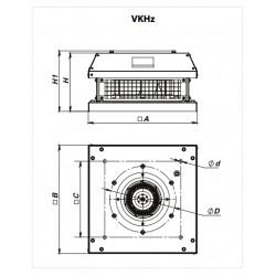 Wentylator dachowy serii VKHz 4D 355