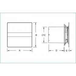 CATA E-100G • cichy wentylator łazienkowy • szklany panel • PROFESJONALNA WYSYŁKA • BEZPIECZEŃSTWO ZAKUPÓW • INDYWIDUALNE RAB