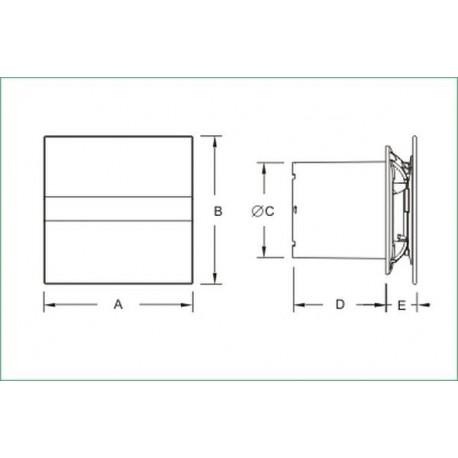 CATA E-100GST • TIMET • cichy wentylator łazienkowy • szklany panel • PROFESJONALNA WYSYŁKA • BEZPIECZEŃSTWO ZAKUPÓW • INDYWI