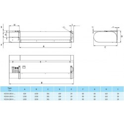 VCE-B-100-V-ZP-0-0 (DM) • 2vv • Nagrzewnica Wodna