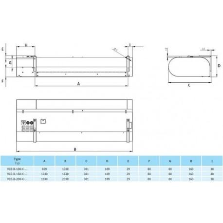 VCE-B-150-V-ZP-0-0 (DM) • 2vv • Nagrzewnica Wodna