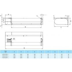 VCE-C-100-V-ZP-0-0 (DM) • 2vv • Nagrzewnica Wodna