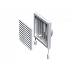 Kratka wentylacyjna nawiewno-wywiewna z regulowaną żaluzją przepływu powietrza seria WP FMV 100 VR