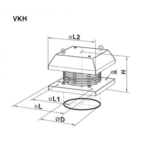 Vents VKH 2E 220 • wentylator dachowy • 700 m3/h • PROFESJONALNA WYSYŁKA• BEZPIECZEŃSTWO ZAKUPÓW • INDYWIDUALNE RABATY W SKLE