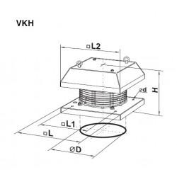 Vents VKH 2E 225 • wentylator dachowy • 900 m3/h • PROFESJONALNA WYSYŁKA• BEZPIECZEŃSTWO ZAKUPÓW • INDYWIDUALNE RABATY W SKLE