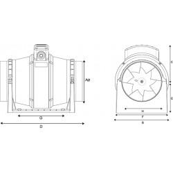 Harmann ML 100/250T diagonalny okrągły wentylator kanałowy  •  •PROFESJONALNA WYSYŁKA• BEZPIECZEŃSTWO ZAKUPÓW